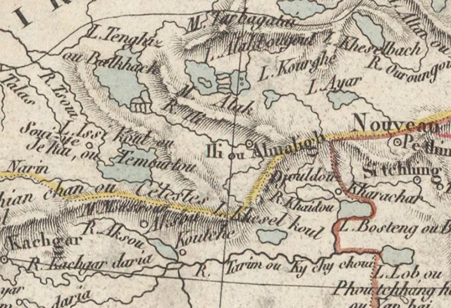 Фрагмент «Carte de l'Asie centrale»