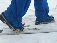 Крепления лыжные тросиковые с подвижными щечками для туристических лыж купить